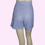 Blue Gingham Shorts back