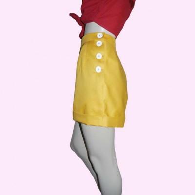 Yellow Shorts Side