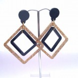 Gloria Square Drop Mobile Earrings