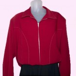 Gab Jacket Blade Red with Stitching