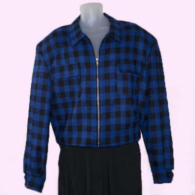 Gab Jacket Blue & Black check