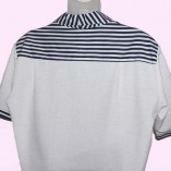 Jerry Lee White Fleck and Navy Stripe back