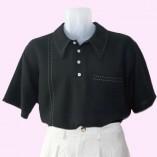 Mens Pointed Collar shirt Black