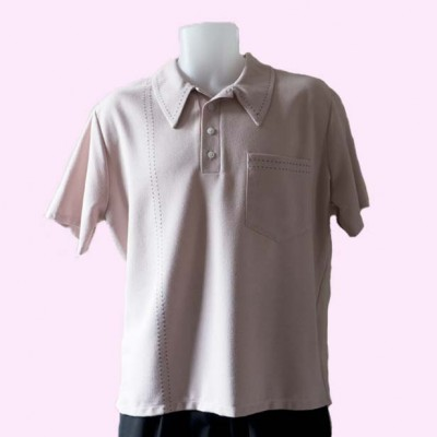 Mens Pointed Collar shirt Pale Pink untucked