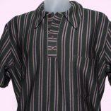 Popover Green Velour Stripe