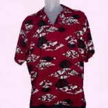 Short Sleeve Red with Black Pattern