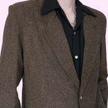 Box Jacket Brown Tweed top 1