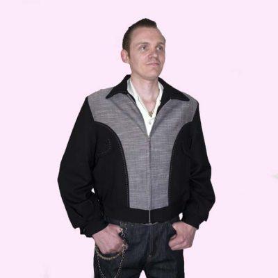 Gab Jacket Blade Black & Silver