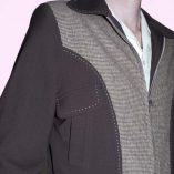 Gab Jacket Blade Brown & Dogtooth close up