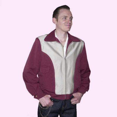 Gab Jacket Blade Mulberry & Beige