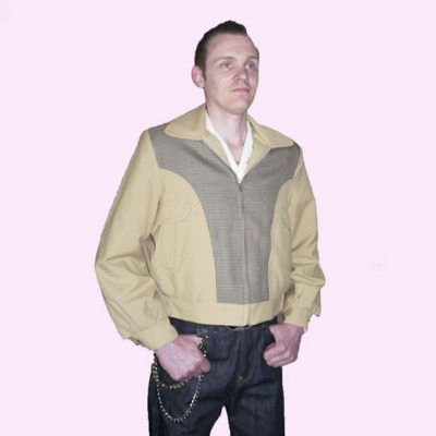 Gab Jacket Blade Sand & Dogtooth