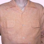 Gab Shirt Peach Fleck Stitched Close up