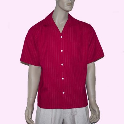 short-sleeve-red-with-gold-stripe