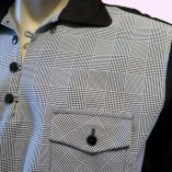 Gaucho Black & Prince of Wales check close up