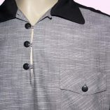 Gaucho Black & Silver Grey close