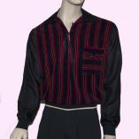 Gaucho Black with Red & Blue Velour