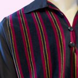 Gaucho Black with Red & Blue Velour close