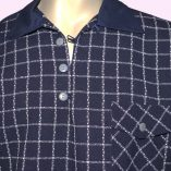 Gaucho Navy with Navy Check close up