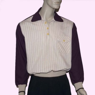 Gaucho Plum with Beige Stripe