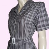 Grey Stripe Top half