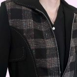 Gab Jacket Blade Black & Multicolour Check close
