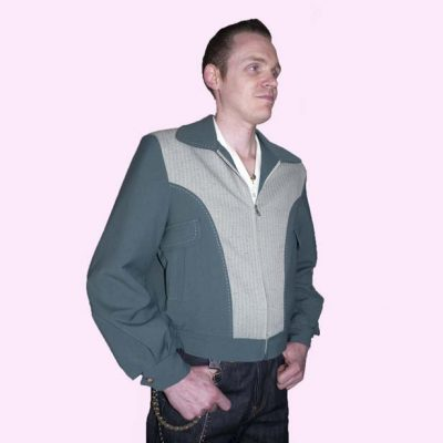 Gab Jacket Blade Green & Sage Stripe