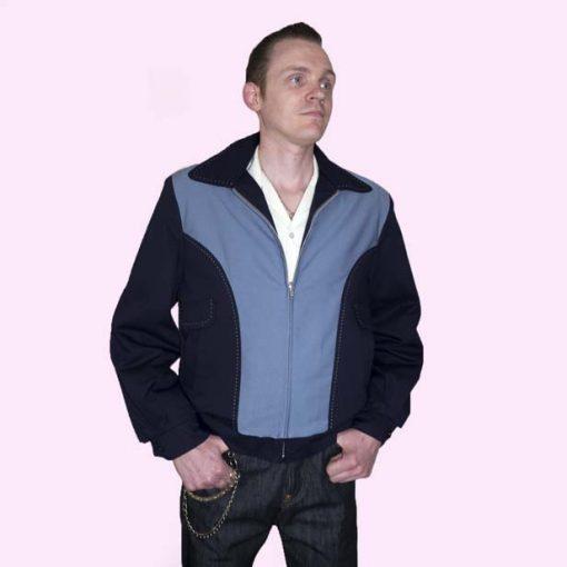 Gab Jacket Blade Navy & Blue