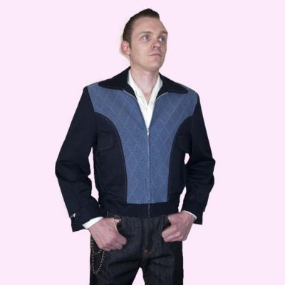 Gab Jacket Blade Navy & Diamond denim