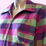 Gab Jacket Pink Purple Green close up