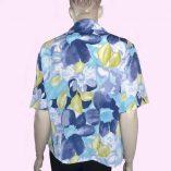 Layla Blouse Blue Floral back