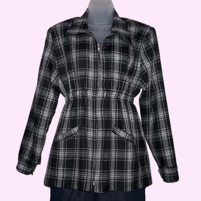 Ski Jacket Black and White Tartan