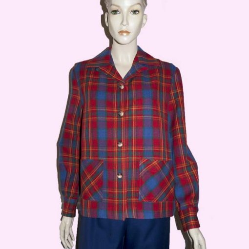 Womens Pendleton Red & Blue Tartan