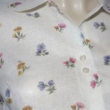 Womens blouse floral close up