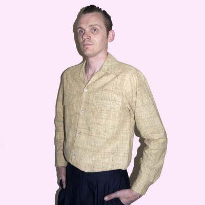 Gab Shirt Beige Linen Fleck