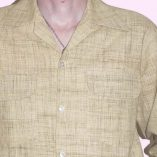 Gab Shirt Beige Linen Fleck close