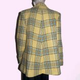 Swing Coat Yellow Check with Blue back