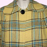 Swing Coat Yellow Check with Blue top