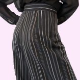 Womens Trousers Black Stripe Close up