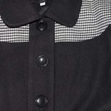 Lana Black Wool & Dogtooth