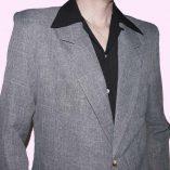 Box Jacket Grey Fleck close up