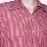 Gab Shirt Red Stripe close up