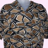 Short Sleeve Atomic pattern brown