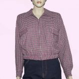 Gab Jacket Mulberry Houndstooth
