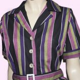 Playsuit Pink Stripe close up