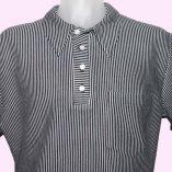 Popover Black & White Stripe top
