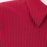 Popover with zip Red & Black Stripe