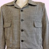 Gab Jacket Button Dogtooth