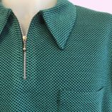 Popover Green Patterned Jersey close up