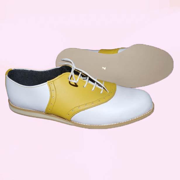Ladies Terry Smith Saddle Shoes White With Colour Saddle Morellos