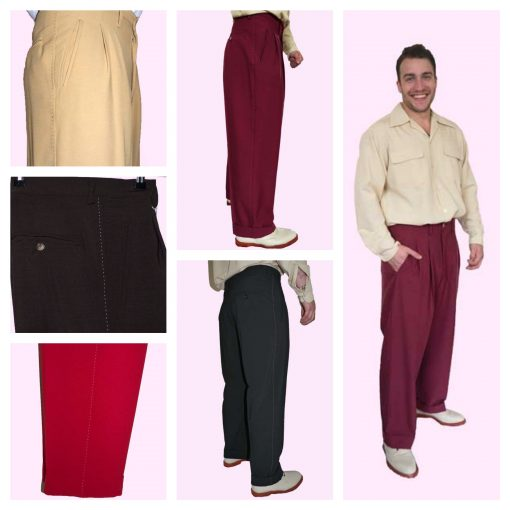 1950s Men's Clothing 50s English Peg Pants €70.00 AT vintagedancer.com
